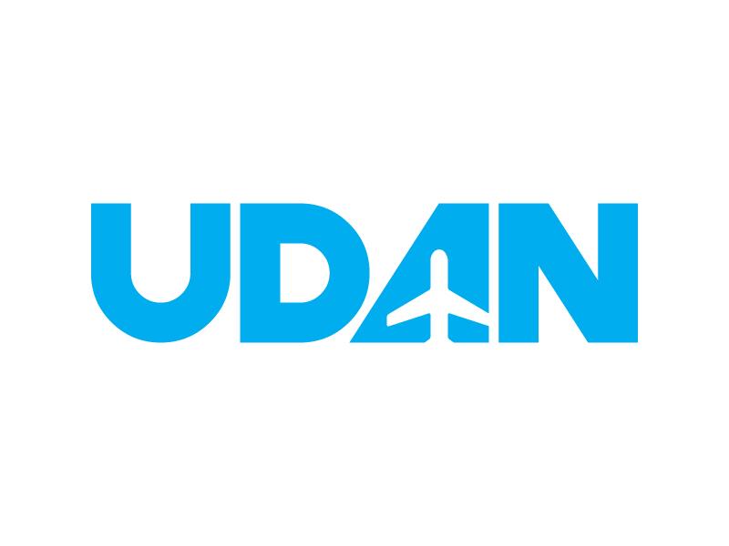 Udan fly air logo design travel rebranding minimal logotype brand branding logo