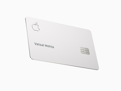 Apple Credit Card Mockup