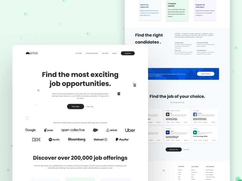 Website design | Grind product design mockup user interface design