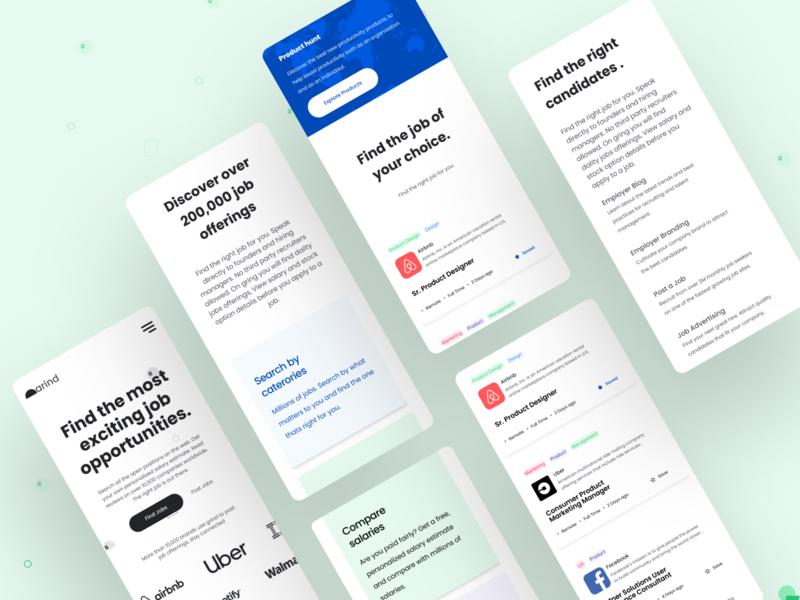 Website design, Mobile | Grind design product design mobile mobileui user interface