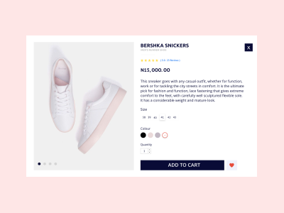 Product Page user interface design ux ui