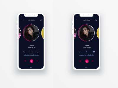 Music player app user interface mobile web mockup uidesign ui ux mobileui design appdesign