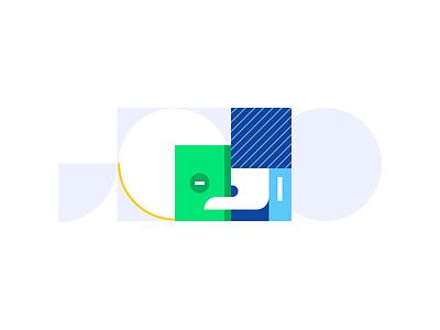 Intro-screen illustration for an insurance app intro screen ios app insurance color palette simple illustration design visual design identity brand design branding saving color