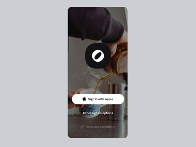 Otto - Intro Animation interaction touch sign with apple flat screen intro screen wait loader loading simple clean interface simple linear signature design tooploox mobile animation intro logo