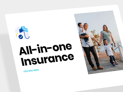 Intro animation for an insurance product brand flat clean simple motion product design landing page insurance intro tooploox animation app web ui design ux ui