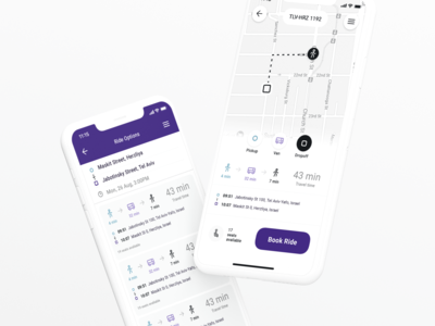 Teporto - Mobile app UI ios interface ui ux user interface clean flat design simple iphone light mobile commute tooploox user experience mobile app mobile app design