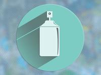 Icon Flat + Long Shadow [spray icon]