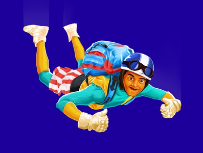 skydiving dribbbleshot designinpiration dribbble vector graphicdesign character characterdesign minimaldesign illustration design minimal
