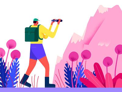 journey illustree graphicdesign minimaldesign characterdesign character gfxmob designinpiration illustration minimal design