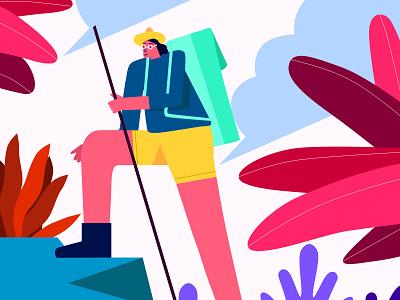solo journey illustree graphicdesign minimaldesign characterdesign character gfxmob designinpiration illustration minimal design
