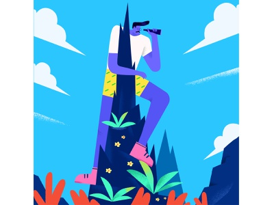 Journey 3 journey traveler character illustree dribble minimaldesign gfxmob minimal characterdesign illustration design