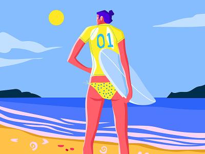 Surfing illustree dribble characterdesign minimaldesign illustration minimal design