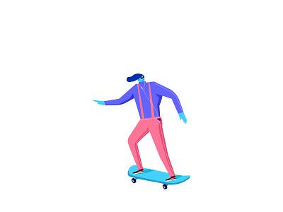 Skate 01 ui design ui  ux ux design vector illustree minimal graphicdesign ui characterdesign minimaldesign illustration design