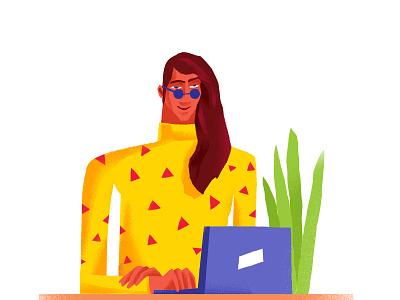 Workspace designer dribbbble illustree illustrator uibanner adobe ui dribbbleshot dribbble designinpiration vector graphicdesign character characterdesign minimaldesign design illustration minimal