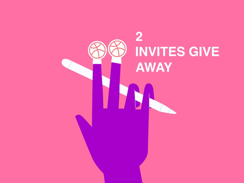 DRIBBBLE INVITE dribbbleshot ui adobe uibanner illustrator vector graphicdesign characterdesign minimaldesign illustration design minimal invites giveaway dribbbleinvites dribbble