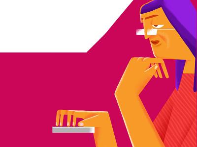 waiting designinpiration dribbble vector graphicdesign character characterdesign minimaldesign illustration design minimal