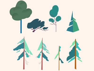 Foliage and Greenery - Cabin Illustration