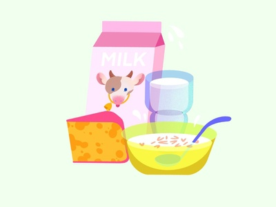 National Dairy Month Illustration