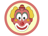 clown, cheerful, smile