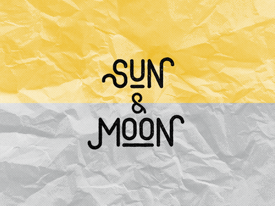 Sun & Moon logo design catering food logodesigns typedesign concept paper rough textured type vector logodesign logos design mark typography logotype food and drink cafe logo branding