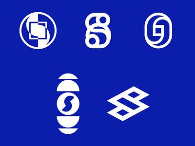 Unused concepts circle s logo brand identity audio music monogram o symbol mark logo branding