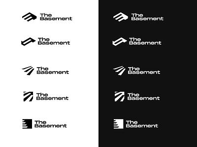 The Basement logo concept vector mark design clean negativespace logo design concept logo design branding and identity blackandwhite grid branding design presentation variations concepts logodesign logo branding