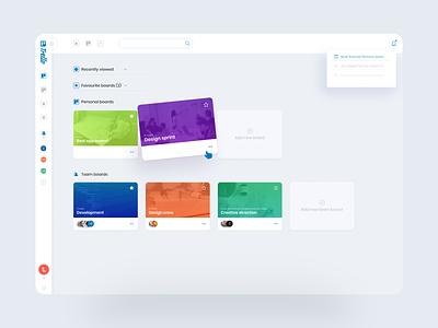 Trello Dashboard Redesign Concept management app product design colorful uiux webdesigning clean web dashboard clean ui userinterface webdesigner dashboard ui dashboard trello uidesign rebrand redesign ux ui webdesign