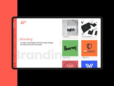 Portfolio branding page