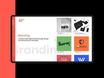 Portfolio branding page landing grid minimal layout uiux daily ui mark mobile website dailyui portfolio logodesign branding webdesign