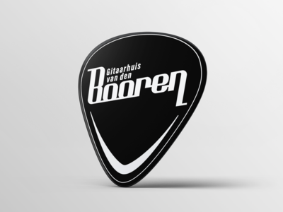 Guitar Pick Booren Logo