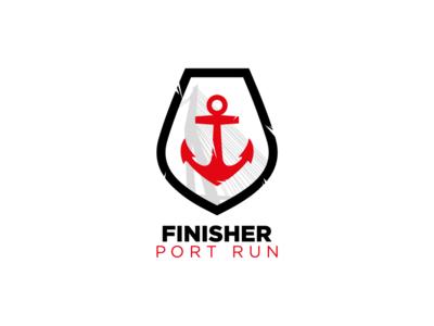 Port Run Logo Medal