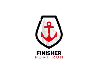 Port Run Logo Medal running run sportif sport medalist thicklines bold mark logos logodesign logo designer mockup branding logo finalist medal