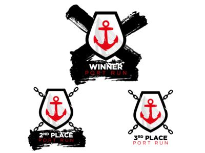 Port Run Medal icons/logos