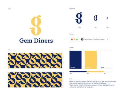 Gem Diners Branding