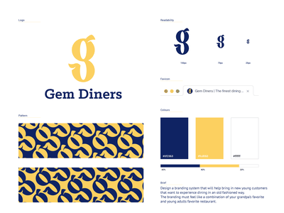 Gem Diners Branding logo design food concept branding and identity guidelines mockup restaurant logo restaurant diner typography calligraphy logotype branding design logo branding