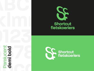 Shortcut BikeMessengers logotype typography green redesign rebranding grid clean design mark logodesign logo branding