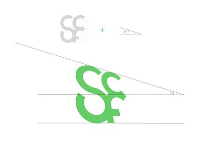 Shortcut logo construction grid logos branding design speed angle monogram green minimalist lettermark s typography logotype cycling bike construction logo grid design branding