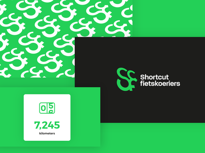 Shortcut branding and icon logotype illustration grid guidelines logos mark logodesign cycling green color pattern typography icon set icon branding