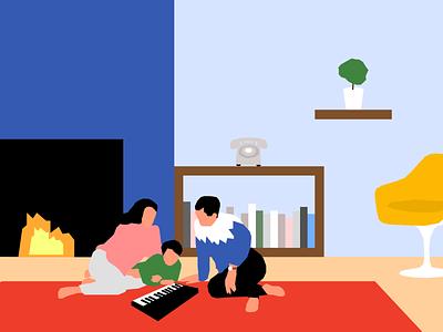Illustration vector network clean illustration color minimalism design minimalist