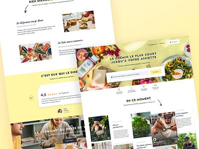 Frichti | Website website clean ux color ui minimalist minimalism design