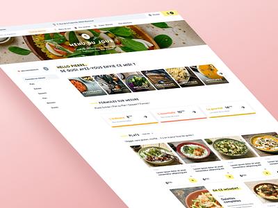 Frichti   New Desktop UI colors website clean ux color ui minimalist minimalism design