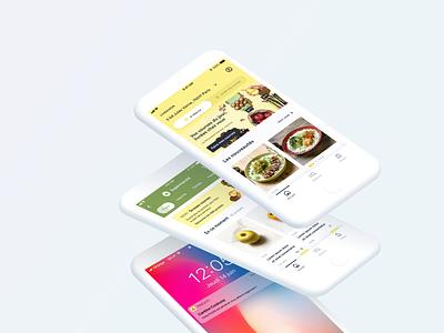 Frichti • App ui ux clean color minimalist minimalism design