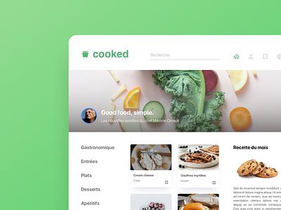 Cooking Website homepage clean minimalism design color user social website network ui ux minimalist