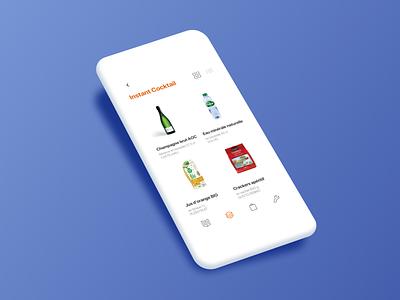 Groceries app minimalism design user website network ux ui minimalist