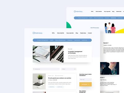 Blog Hubvisory branding illustration color minimalism design user website ux ui minimalist