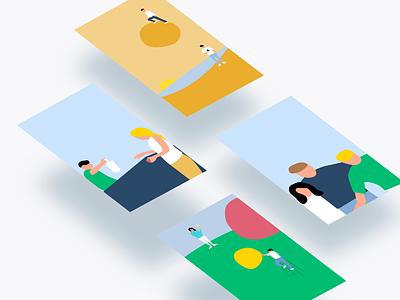 Illustrations flat clean branding illustration website color minimalism design ui minimalist