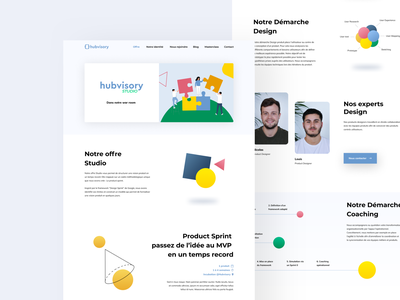 Hubvisory Website clean user illustration website ux color minimalism design ui minimalist