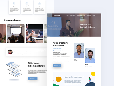 Hubvisory Website network clean user illustration website ux color minimalism ui design minimalist