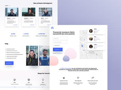 Homepage clean user illustration website ux color minimalism design ui minimalist