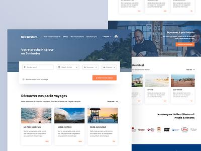 Best Western Redesign clean user illustration website ux color minimalism design ui minimalist